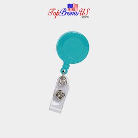 Retractable ID Badge Reel Holder (Blue)