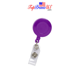 Retractable ID Badge Reel Holder (Purple)