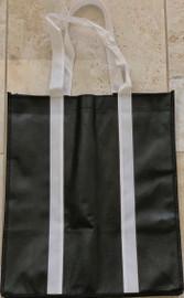 "Two Tone Tote Bags (Black) 12.4""W x 14""H x 8.7""D"