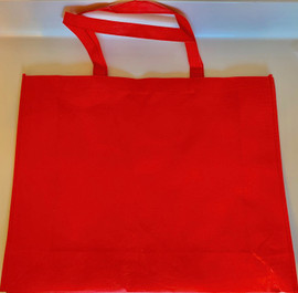 "Large Tote Bag (Red) 20""W x 16""H x 6""D"