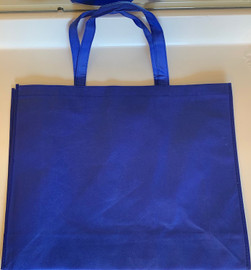 "Large Tote Bag (Blue) 20""W x 16""H x 6""D"