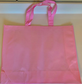 "Large Tote Bag (Pink) 20""W x 16""H x 6""D"