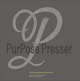 Purpose Presser - custom Rhinestone Transfer
