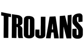 Trojans Mascot Vinyl Transfer