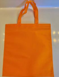 """Non Woven Tote Bag (Orange) 13.5""""W x 14.5""""H"""