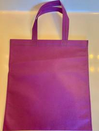 """Non Woven Tote Bag (Purple) 13.5""""W x 14.5""""H"""