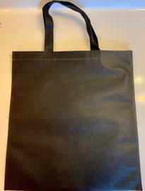 """Non Woven Tote Bag (Black) 13.5""""W x 14.5""""H"""
