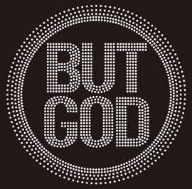 But God inside circle (NEW) Religious Rhinestone transfer