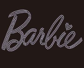 Barbie Text Rhinestone transfer