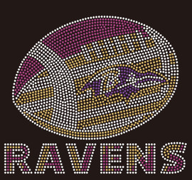 Ravens Football custom Rhinestone transfer