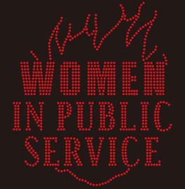 Women in Public Service Flame Rhinestone transfer