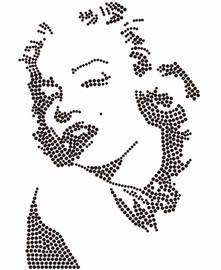 Marylin Monroe custom Rhinestone Transfer