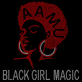 AAMU Girl Black Girl Magic custom Rhinestone Transfer