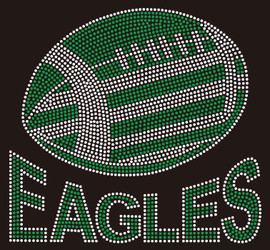 Eagles Football custom Rhinestone transfer