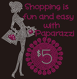 Shopping is fun and easy with Paparazzi $5 Rhinestone transfer