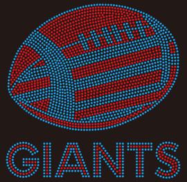 Giants Football custom Rhinestone transfer