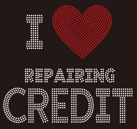 I Love repairing Credit custom Rhinestone transfer