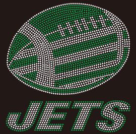 Jets Football custom Rhinestone transfer