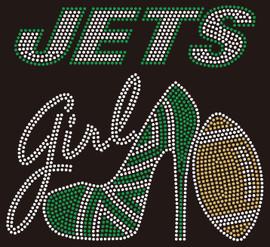Jets girl heel custom Rhinestone transfer
