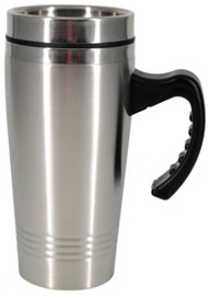 Tumbler 16 OZ with handle, double wall Travel Mug (Stainless Steel)