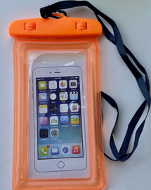 Waterproof Cell Phone Pouch (Orange) Universal Case Dry Bag Protect iPhone X 8 7 6S Plus SE, Galaxy S6 S7, LG G5