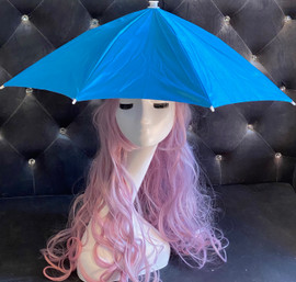 Hat Umbrella Hands free (Blue) for funny party, Beach party, Fishing, Gardening, Outdoor Hiking, sun and rain protection