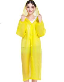 Gown / Rain Coat (Yellow) for Water Falls, Beach party, Fishing, Outdoor Hiking, rain protection