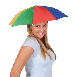 Umbrella Hat, Hands free (Multi Color) Portable Fishing Camping beach funny Gardening, Outdoor Hiking, sun and rain protection