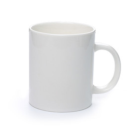 White Ceramic Coffee Cup Mug (Print your msg on it)
