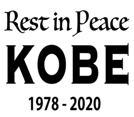 Rest in Peace KOBE 1978-2020 vinyl transfer