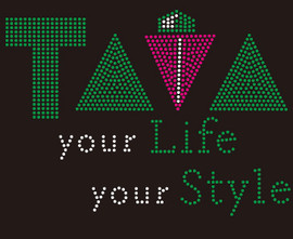 TAVA Your Life Your Style custom Rhinestone transfer