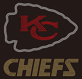 KC Chiefs football Rhinestone Transfer