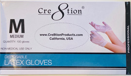 100 Latex Gloves (Medium) Disposable (Non medical use only)