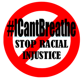 #ICantBreathe Stop Racial Injustice Vinyl Transfer (Black and Red)