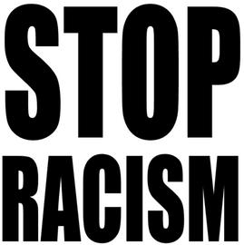 STOP RACISM Vinyl Transfer