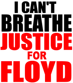 I Can't Breathe Justice for FLOYD Vinyl Transfer (Black and Red)