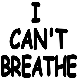 I CAN'T BREATHE (chalkboard Font) - Vinyl Transfer