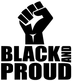 BLACK AND PROUD with Fist - Vinyl Transfer