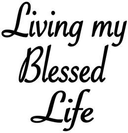 Living my Blessed Life - Vinyl Transfer