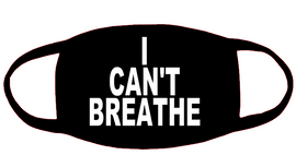 I CAN'T BREATHE 3x3.8 Vinyl Transfer for Mask (White) (Mask sold separately)