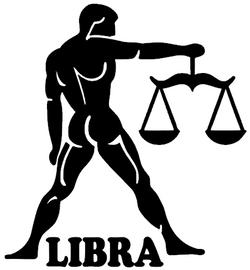 LIBRA Zodiac horoscope Vinyl Transfer