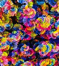 Rainbow Flower Multicolor - Vinyl Sheet/Roll HTV