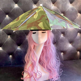 Hat Umbrella Hands free (Military) for funny party, Beach party, Fishing, Gardening, Outdoor Hiking, sun and rain protection