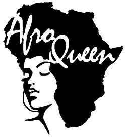 Afro Queen in Africa map girl Silhouette Vinyl Transfer
