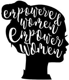 Empowered Women in Afro Silhouette Vinyl Transfer