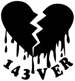 Broken Heart 143VER - custom Vinyl Transfer
