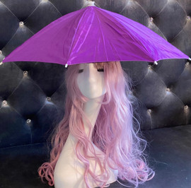 Hat Umbrella Hands free (Purple) for funny party, Beach party, Fishing, Gardening, Outdoor Hiking, sun and rain protection