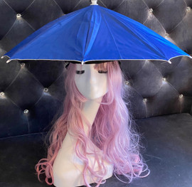 Umbrella Hands free (Royal Blue) for funny party, Beach party, Fishing, Gardening, Outdoor Hiking, sun and rain protection