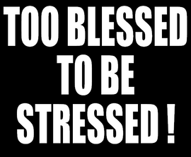 Too Blessed to be Stressed - Vinyl Transfer (White)