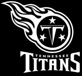Titans Tennessee - Vinyl Transfer (White)